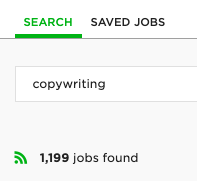 copywriting job upwork count